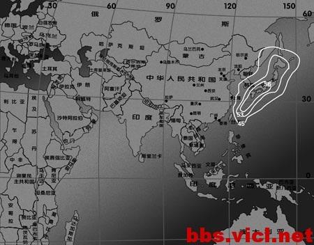 162°E超鸟B2卫星Ku波段日本波束EIRP场强图