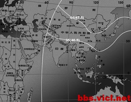 140°E快车AM5卫星C波段EIRP场强图