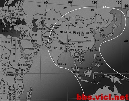 IPSTAR全球宽带卫星系统覆盖图